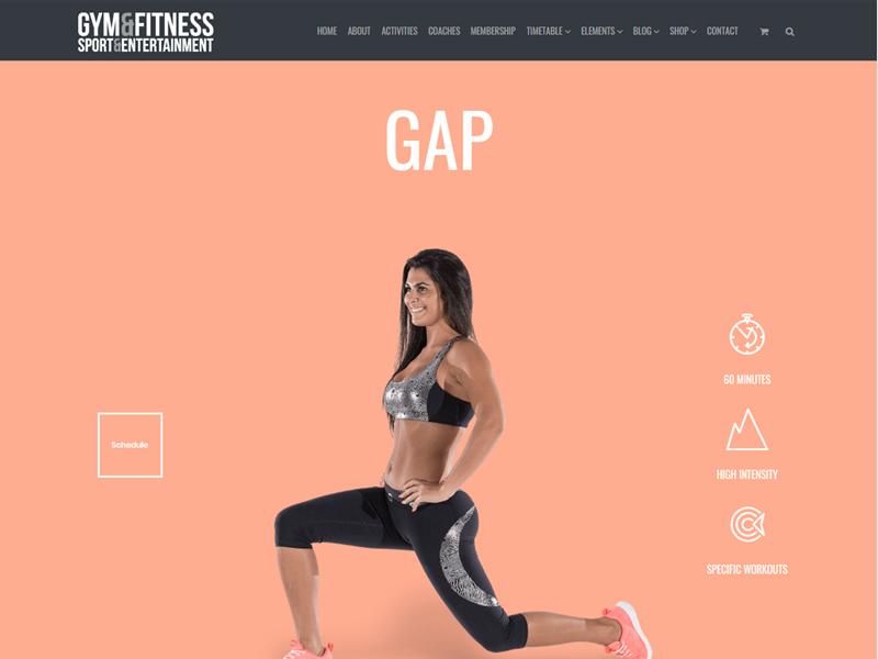 Training Post Page - Gym WordPress Theme - UpLabs