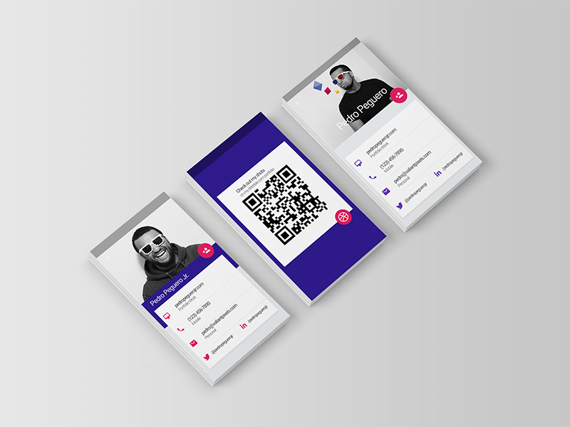 Material Design Business Cards - Uplabs