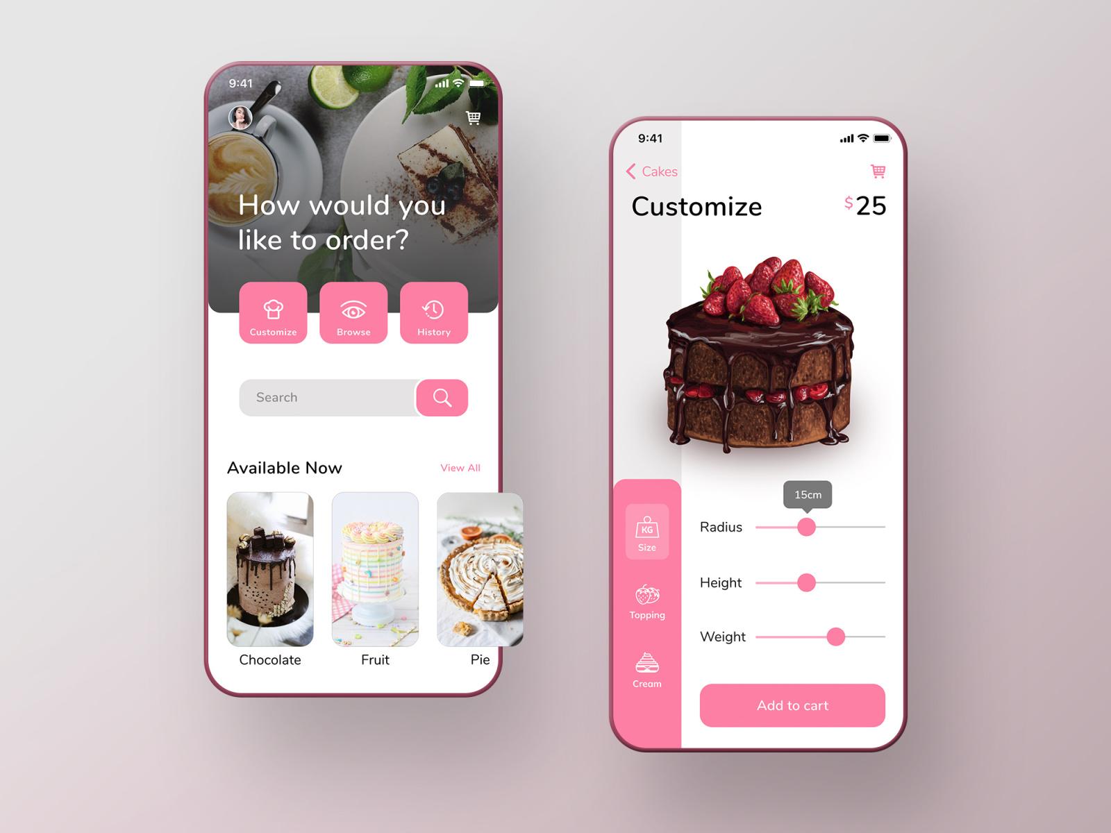 Cake Studio App Uplabs