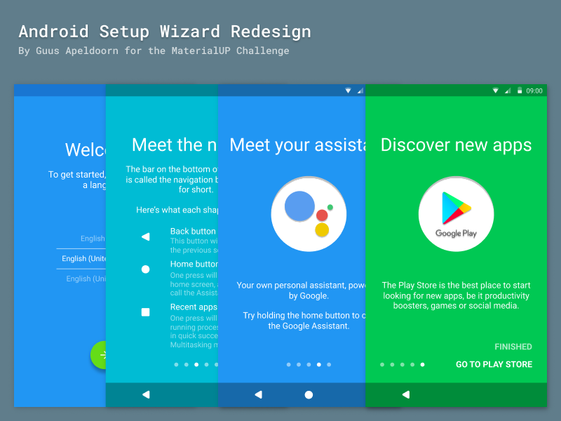 Android Setup Wizard - UpLabs