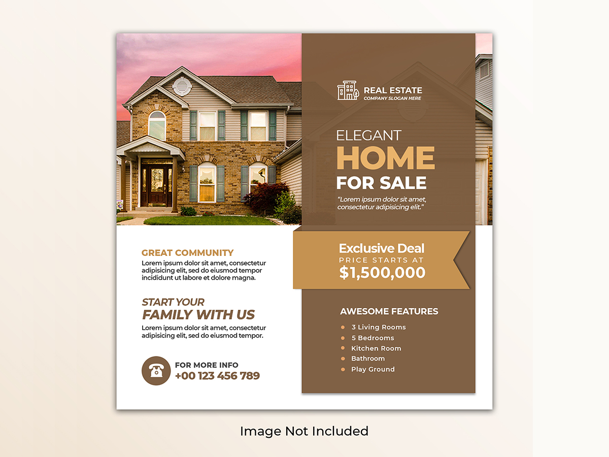 Social Media Real Estate Web Banner Post Template Search By Muzli