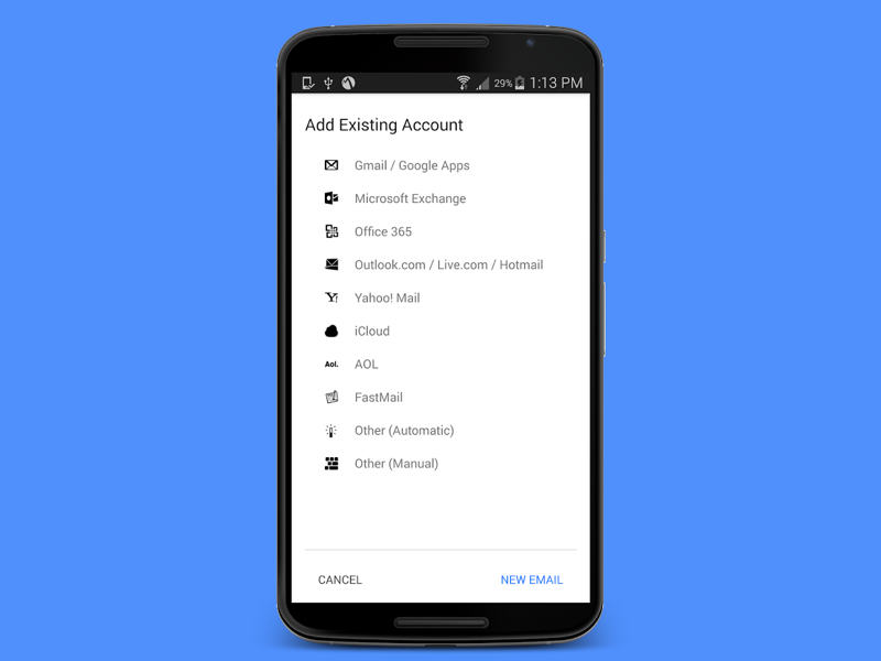Inky Secure Mail Android App Uplabs