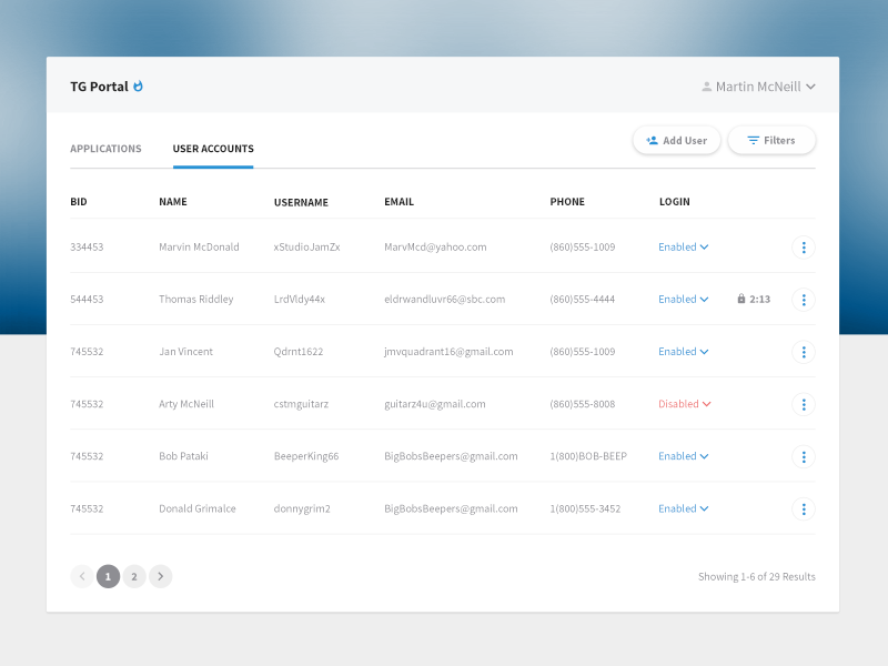 User Account Permissions Concept Uplabs