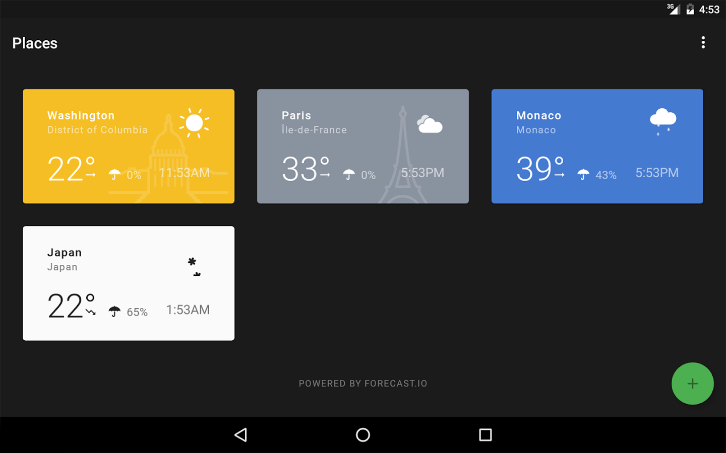 Weather Timeline Android App - UpLabs