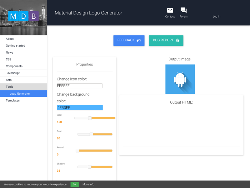 Material design logo generator uplabs voltagebd Image collections