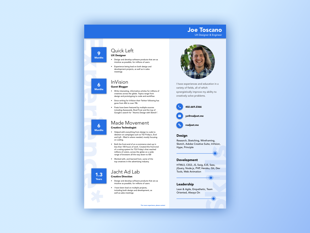 material design resume template - Resume Templates Design