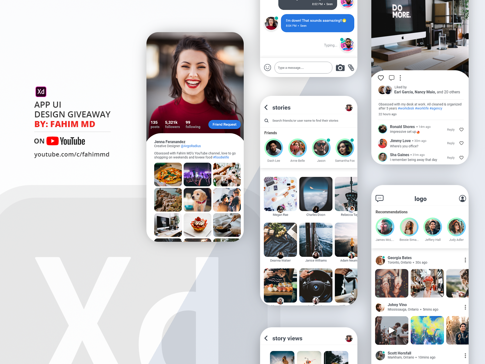 Download Free App UI Design | Adobe XD - UpLabs