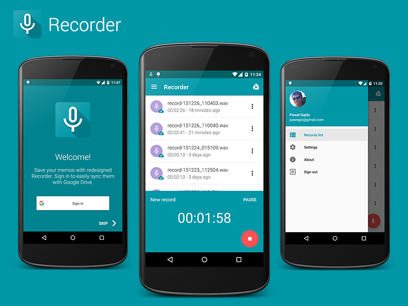 Recorder Android App Uplabs