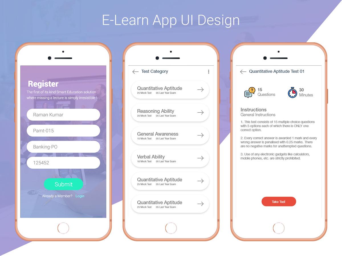 E Learn App Ui Design Uplabs