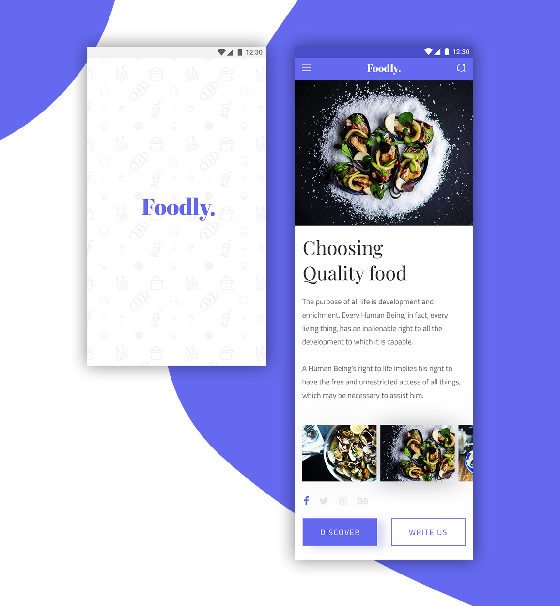 Foodly App - UpLabs