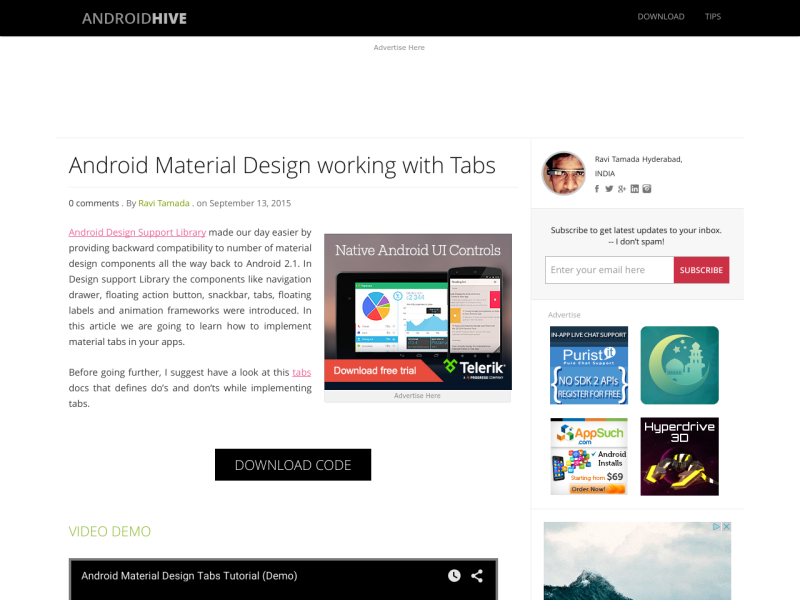 Android Material Design working with Tabs - UpLabs
