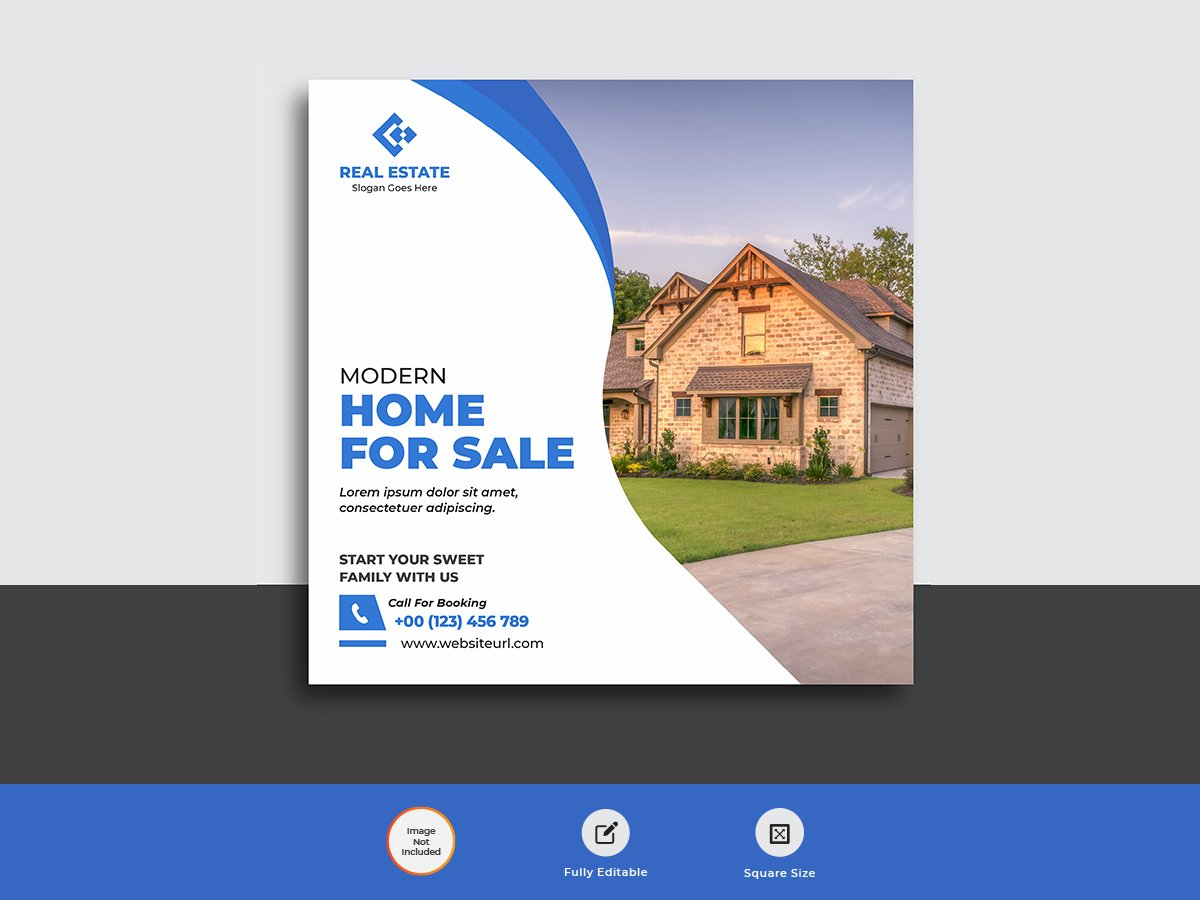 Real Estate Business Agency Web Banner Post Template Uplabs