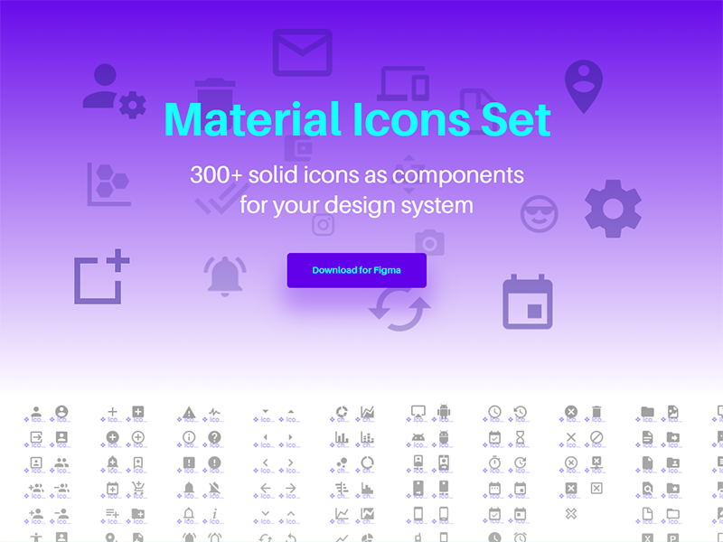 Material Icons Pack for Figma - UpLabs