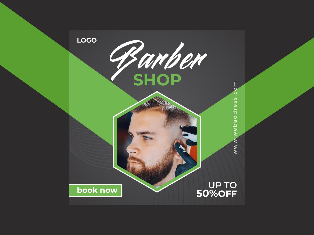 Barber Shop Social Media Banner Design Search By Muzli