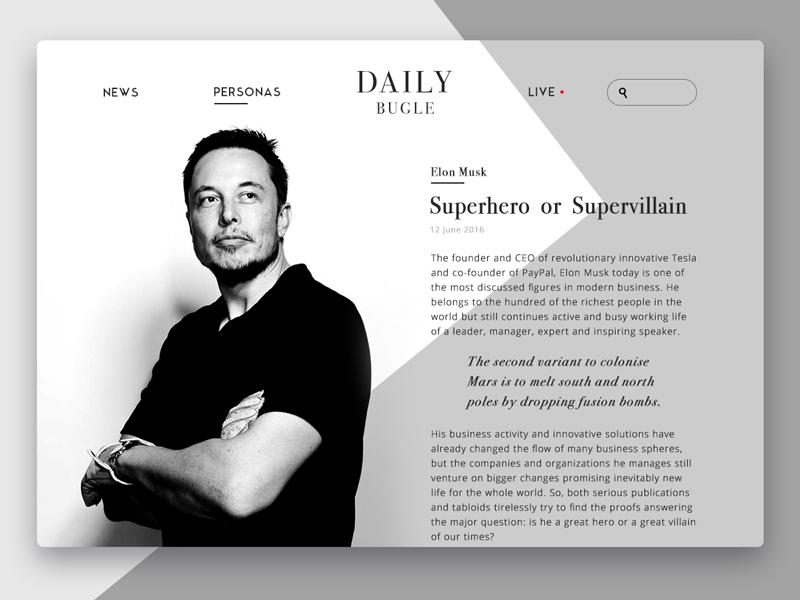 Daily Bugle Online Magazine Uplabs