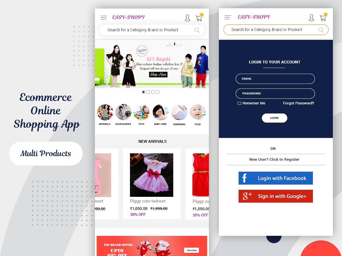 ecommerce online shopping mobile ui kit - uplabs