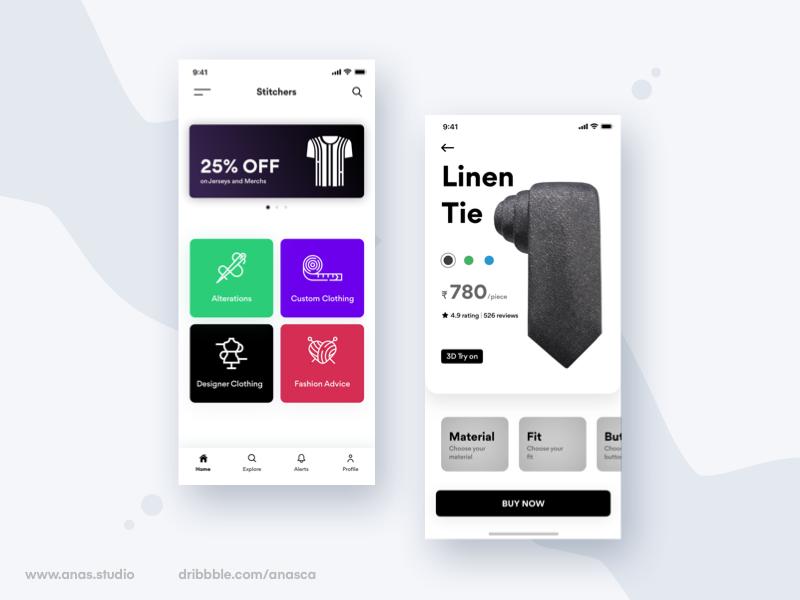 Stitchers - Custom Clothing App - UpLabs