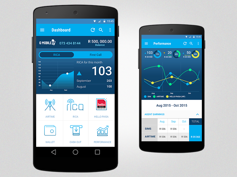 Qmart Qmobile Android App Design Uplabs