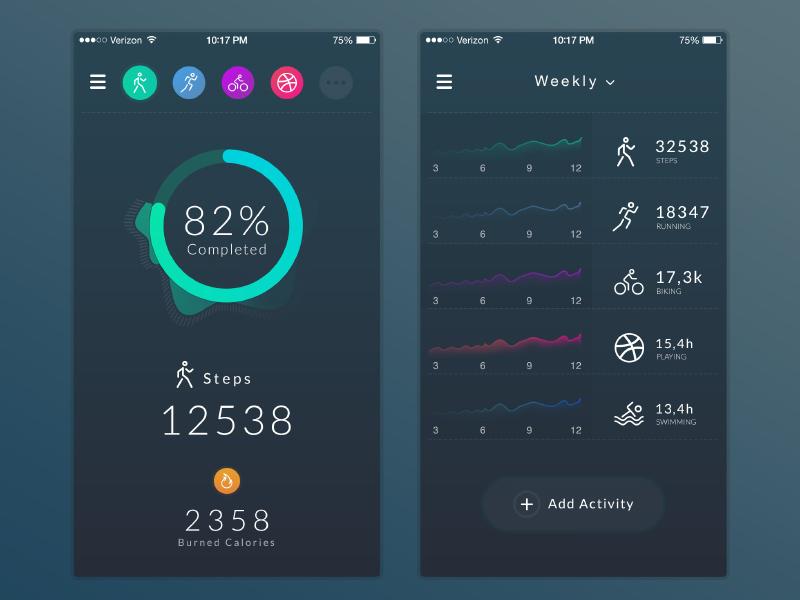 Fitness Tracker App Uplabs