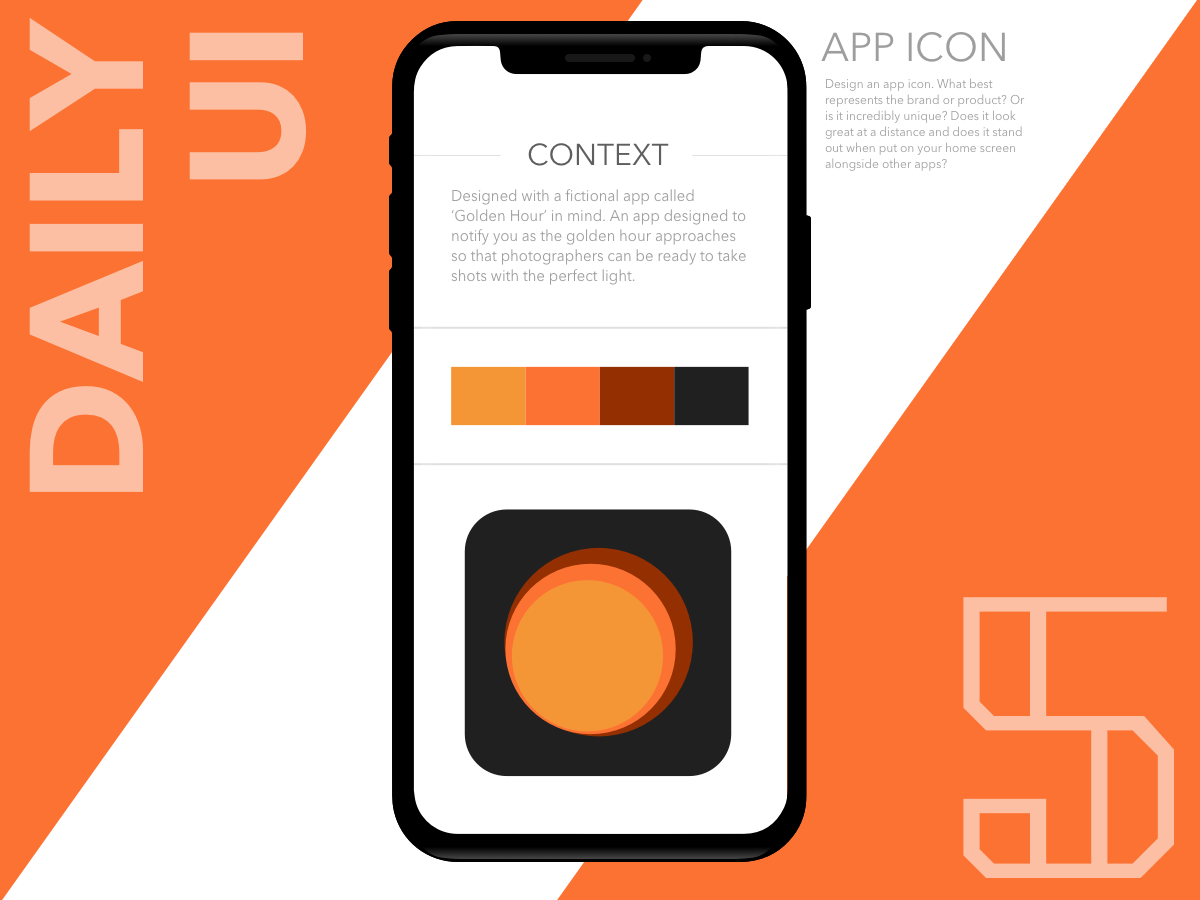 App Icon - Golden Hour - UpLabs