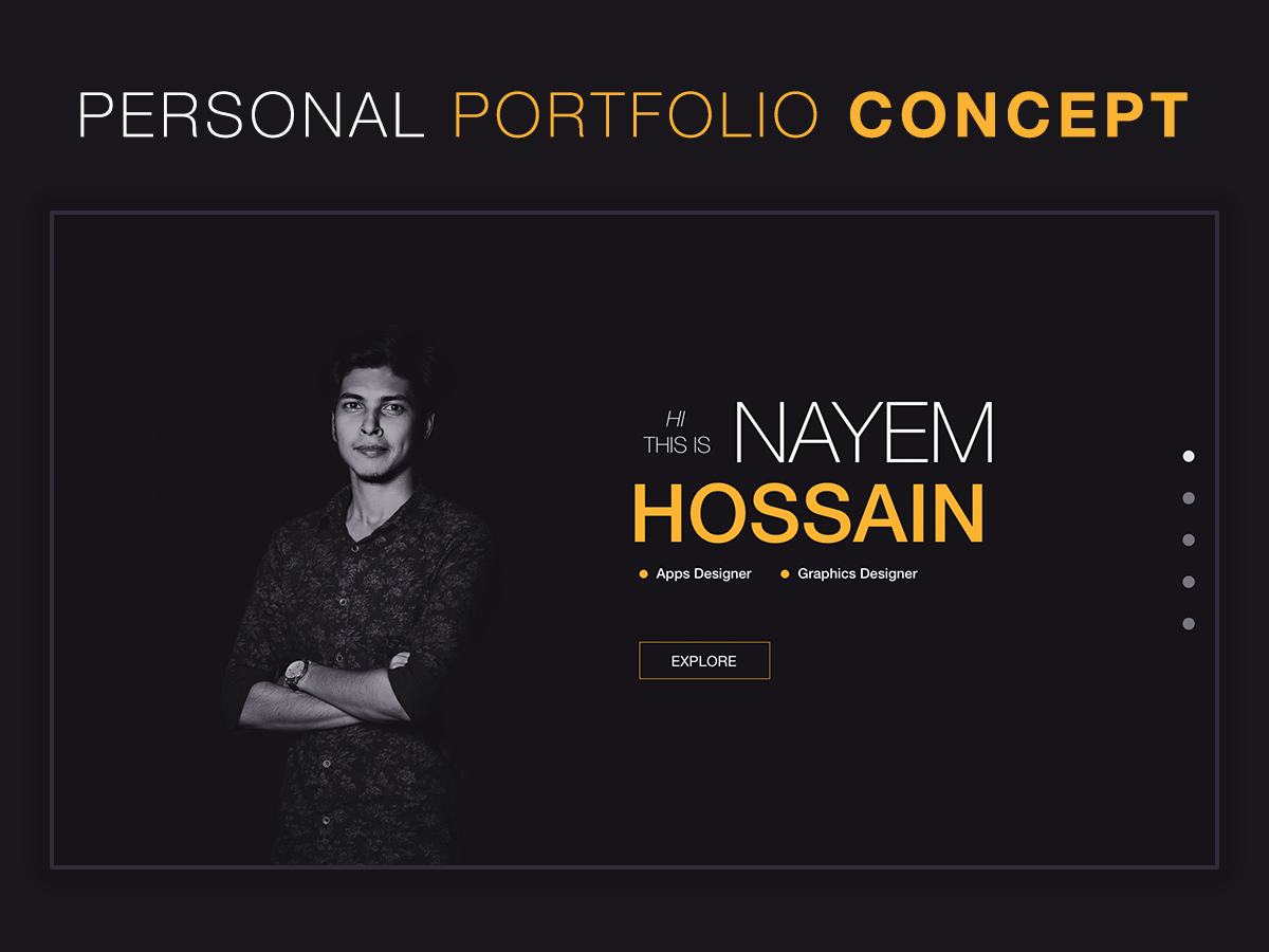 Personal Portfolio Landing Page Concept Search By Muzli