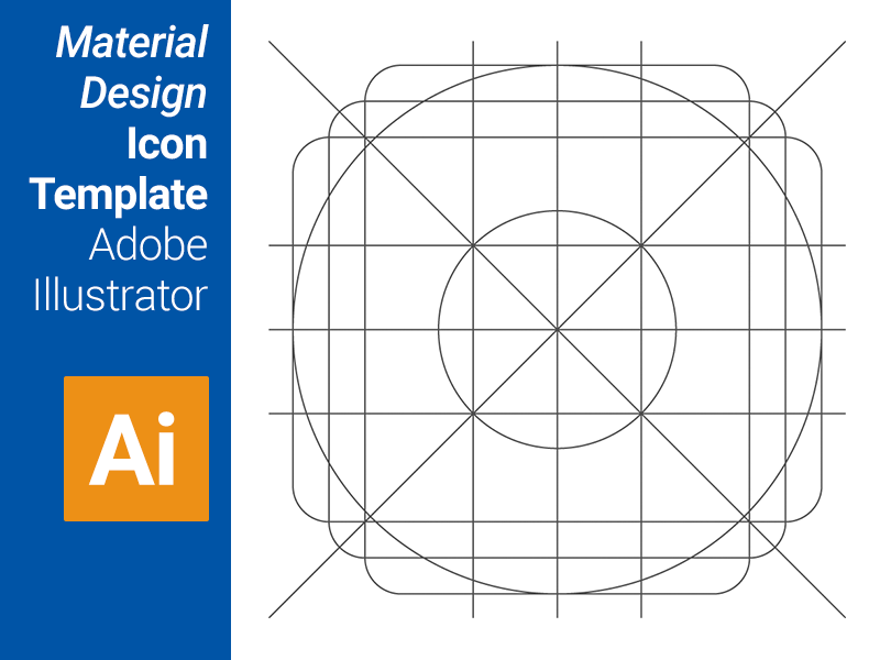 Material Design Icon Template - Uplabs