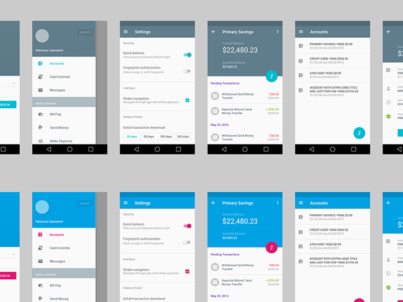 Android App Material Design Template