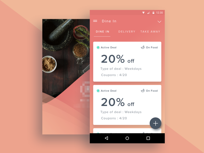 Restaurant Deal Management Android App Uplabs