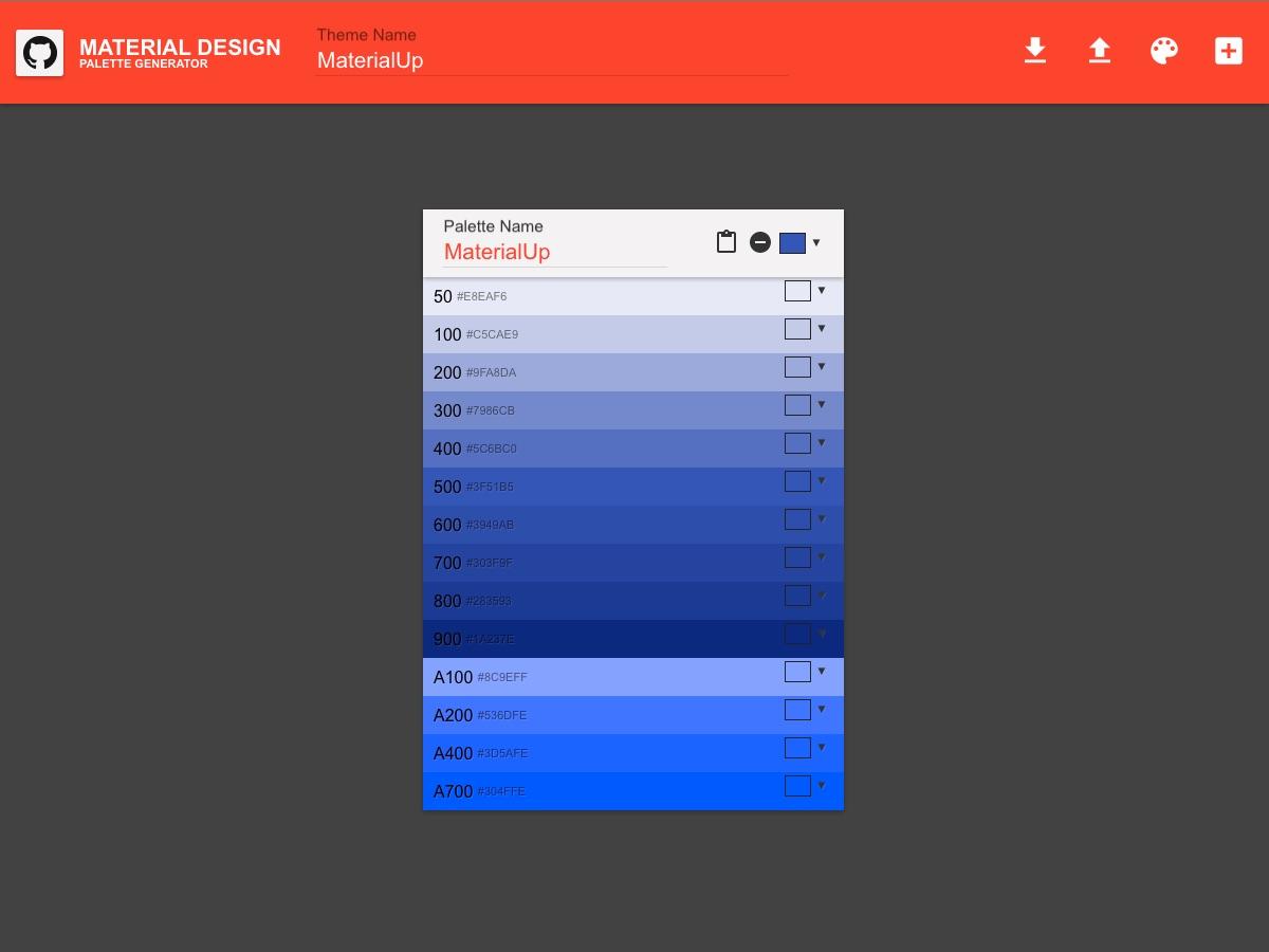 Material Design Color Generator Uplabs