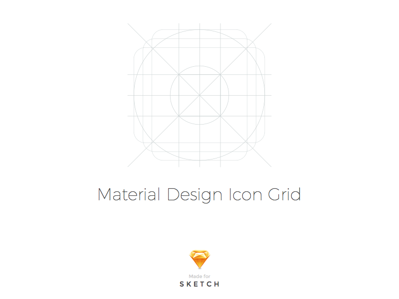 Sketch Material Design Icon Template Uplabs