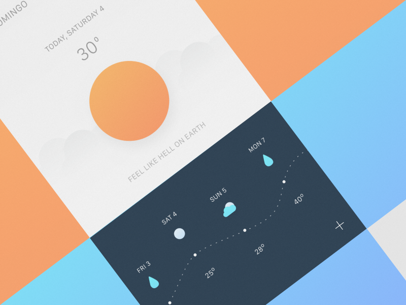 Weather App Concept - UpLabs