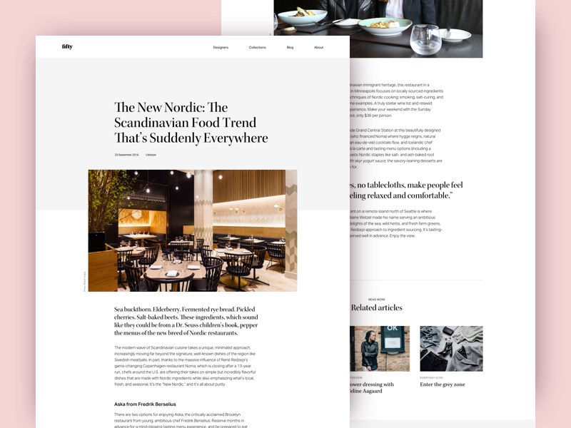 Article Page Layout